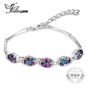 mystic topaz sterling silver bracelet