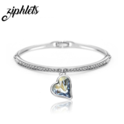 Swarovski heart bangle