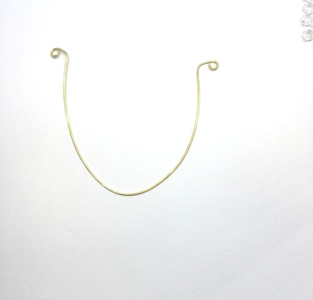 swarovski wire pendant