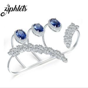 sapphire palm bracelet