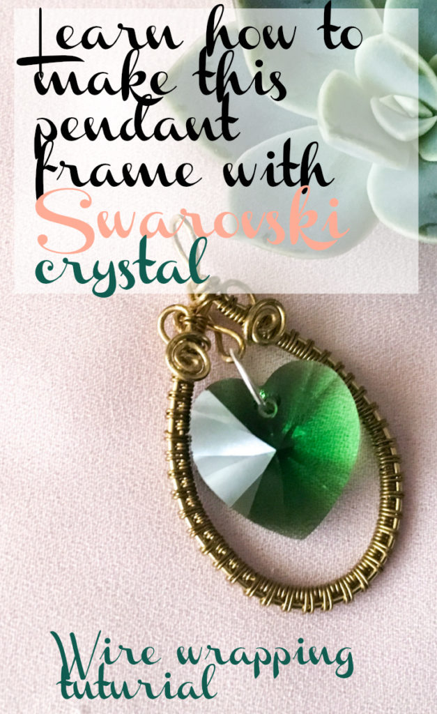 Make this wire wrapped pendant frame