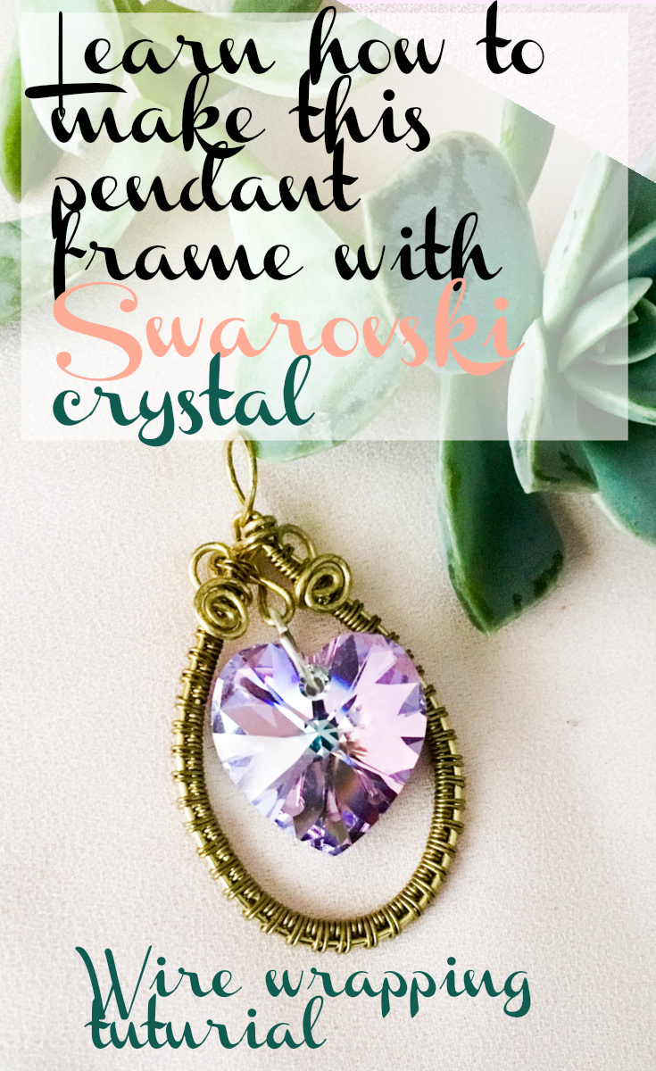 Wire wrapped pendant frame