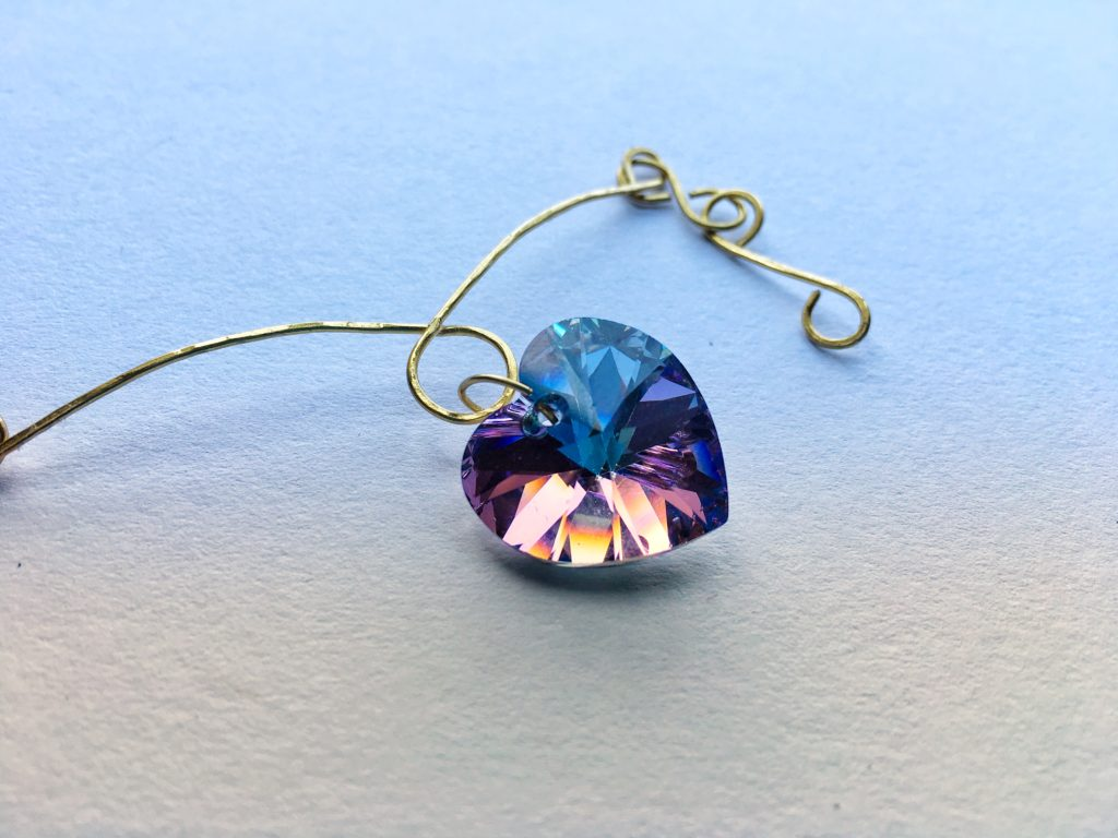 Make this wire necklace. Wire wrapping technique