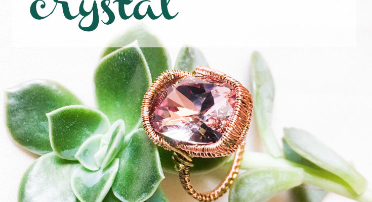 Swarovski Cushion cut wire ring. Wire weaving tutorial