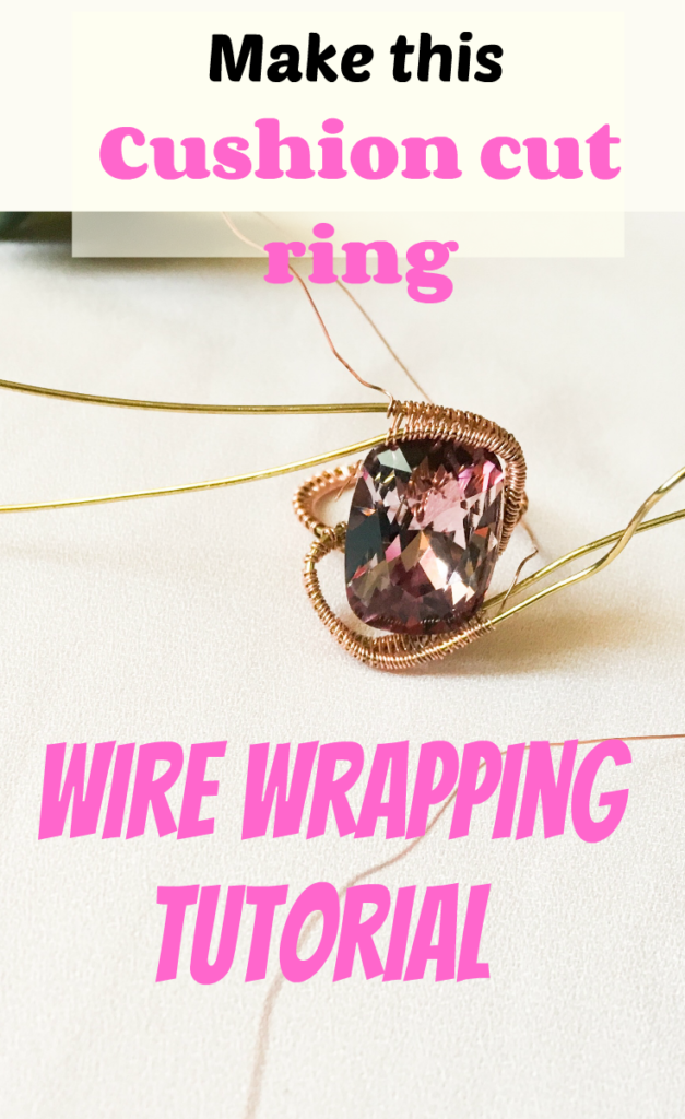 Make this wire wrapped ring using Swarovski stones