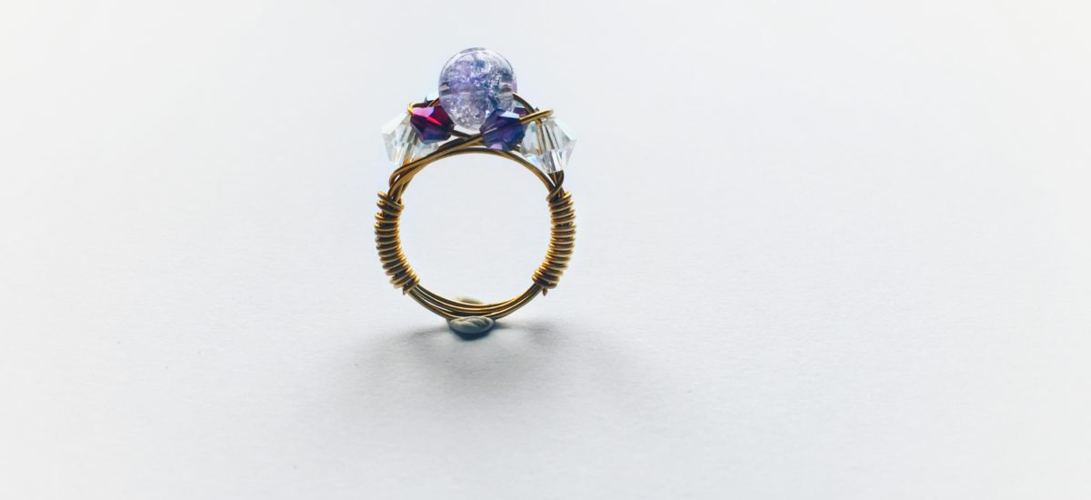 Wire wrapped ring tutorial | Amethyst Crown Ring