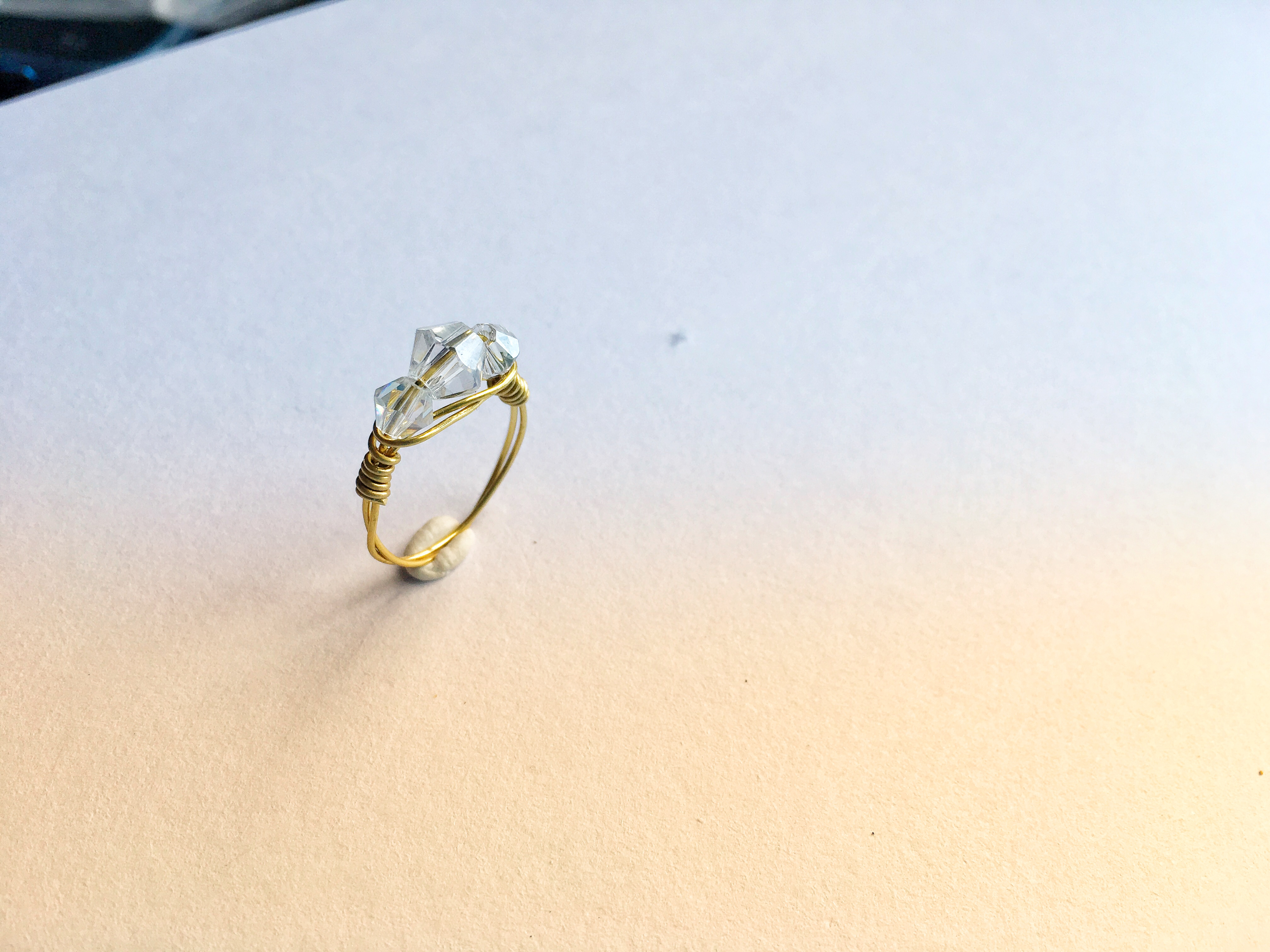 Wire wrapped ring tutorial | Diamond Trilogy ring