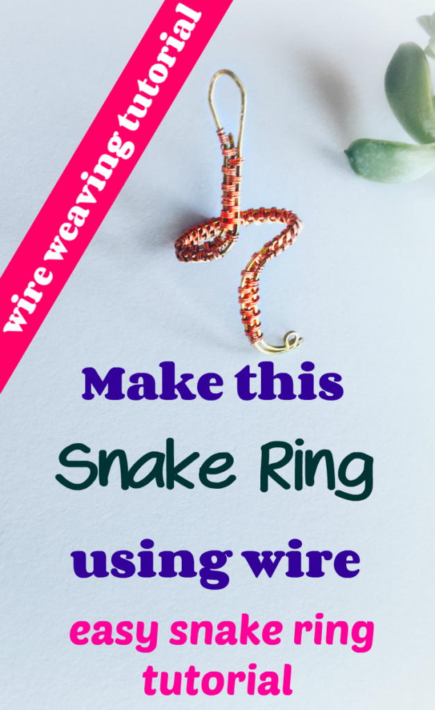 Make this snake ring using wire