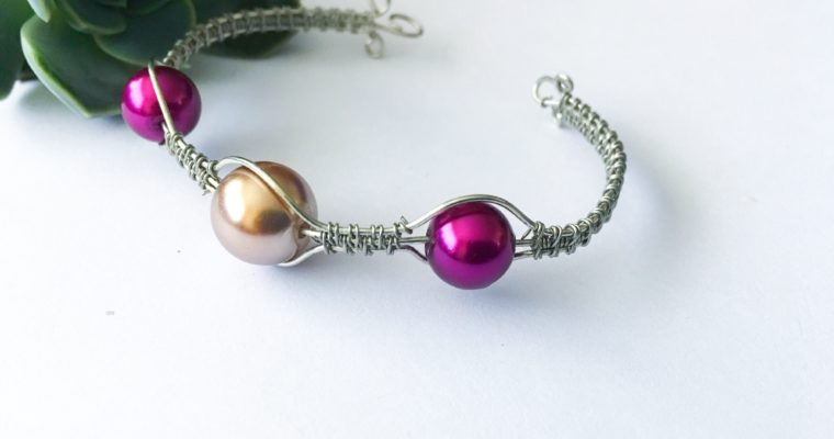 Wire wrapped Bubble bracelet | How to make wire wrapped bracelet
