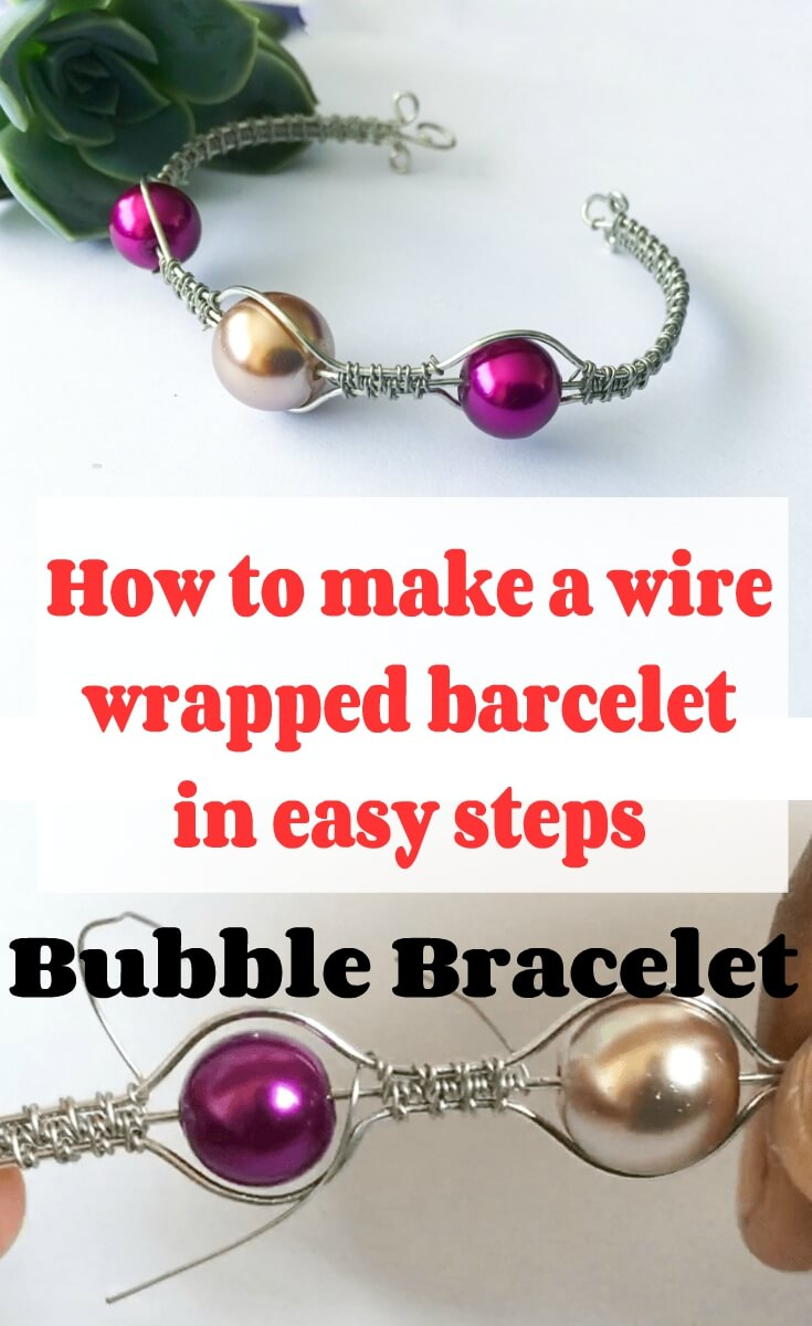 wire wrapped bubble bracelet