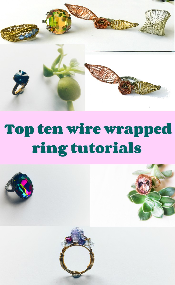 Top ten wire wrapped rings tutorials