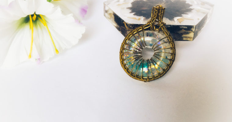 Wire wrapped Donut pendant | Wire wrapping tutorial