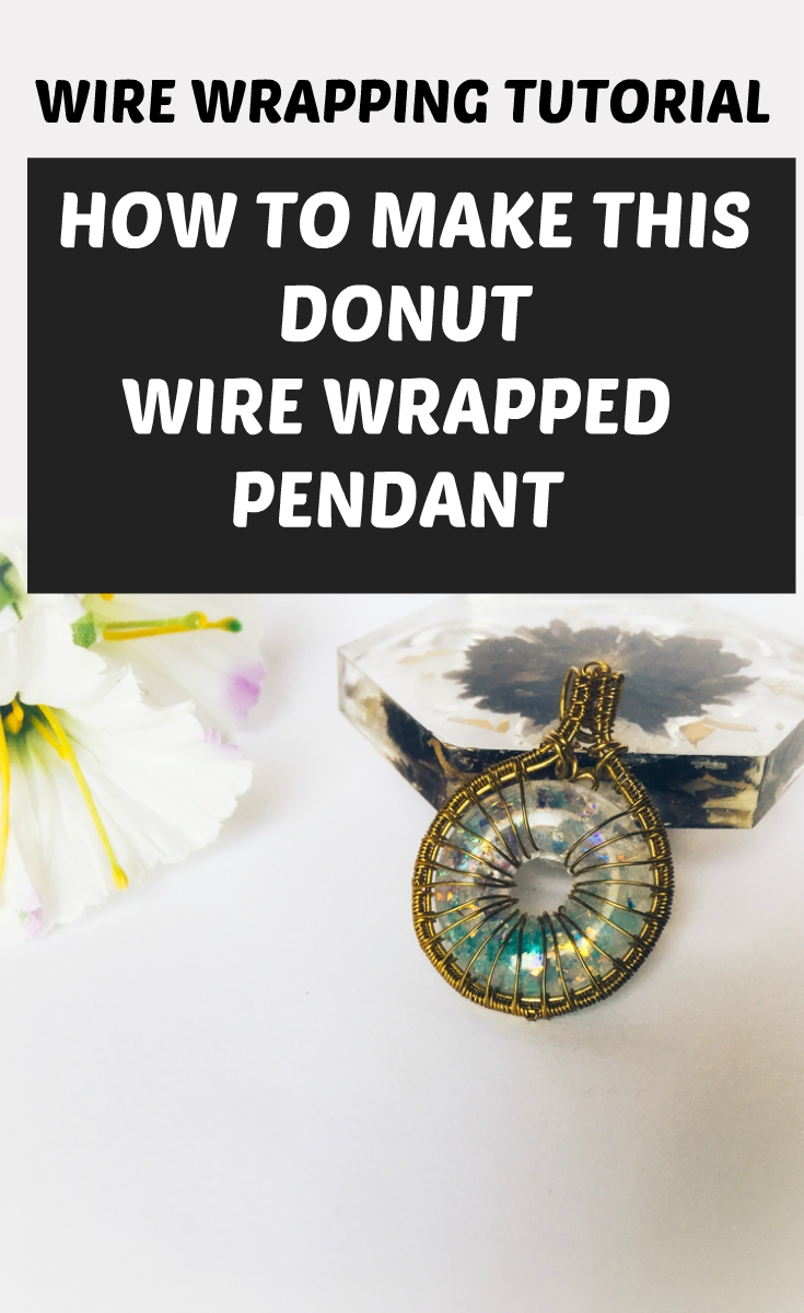 wire wrapped donut pendant